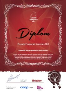 Private Financial Services OÜ received the «Gazelle of Business Award 2020»
