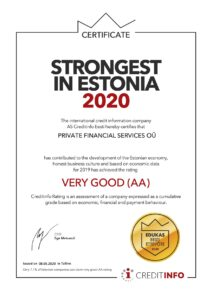 The international credit information company Creditinfo Eesti AS